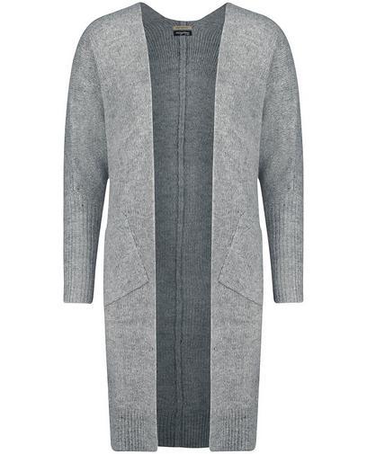 Lange graue Jacke